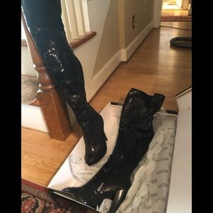 Colin Stuart sequin over the knee boots